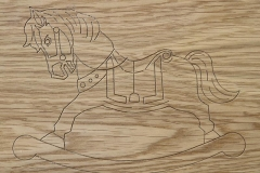 Rocking Horse Engrave Design