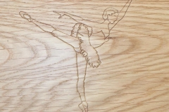 Dancer Engrave Design