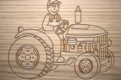 Tractor Engrave Design