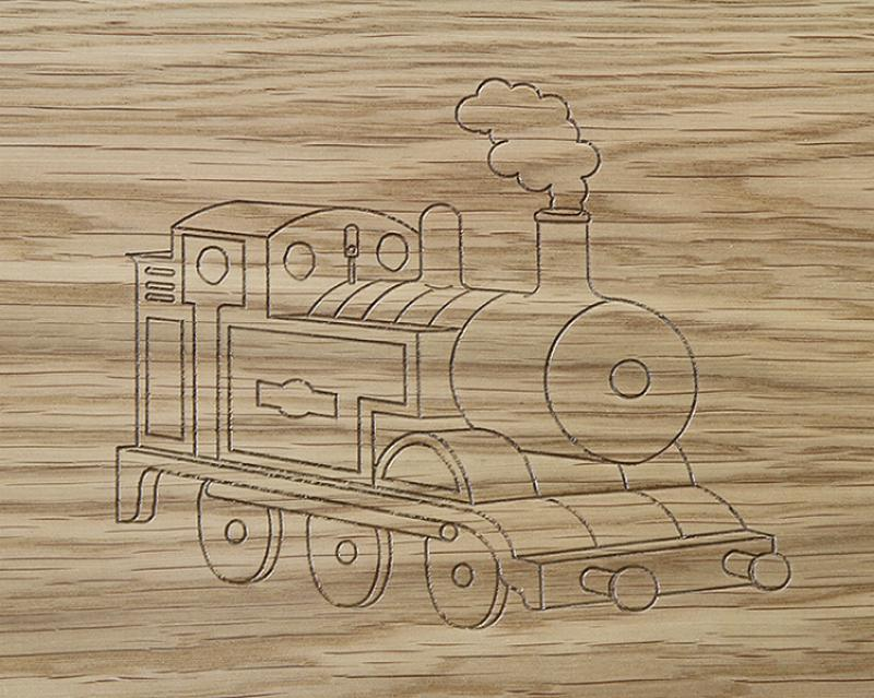 Train Engrave Design