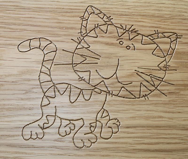 Cat Engrave Design