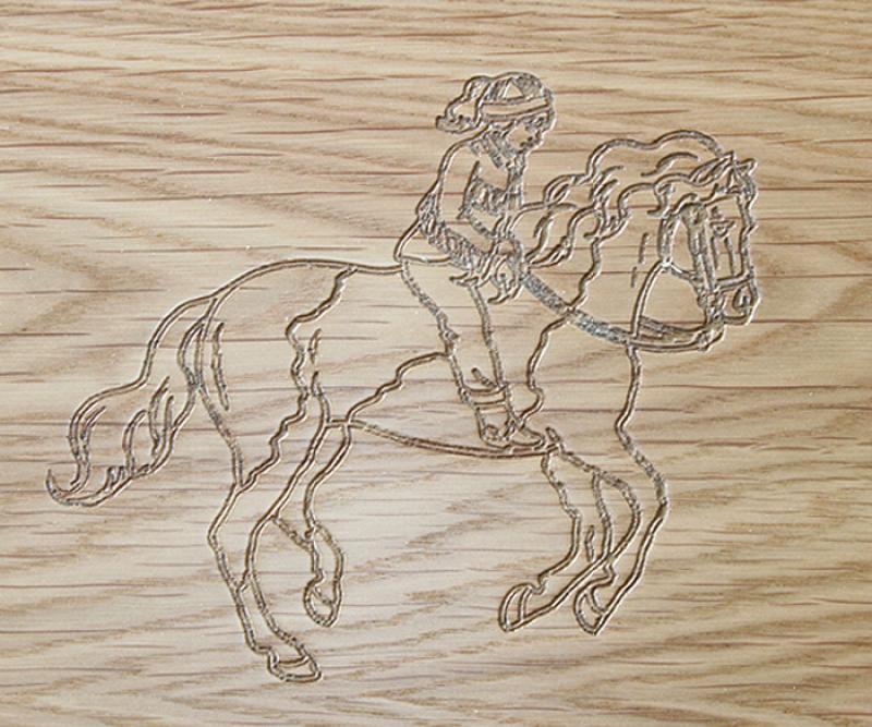Horse Engrave Design