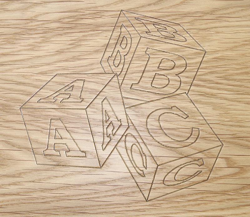 Dice Engrave Design