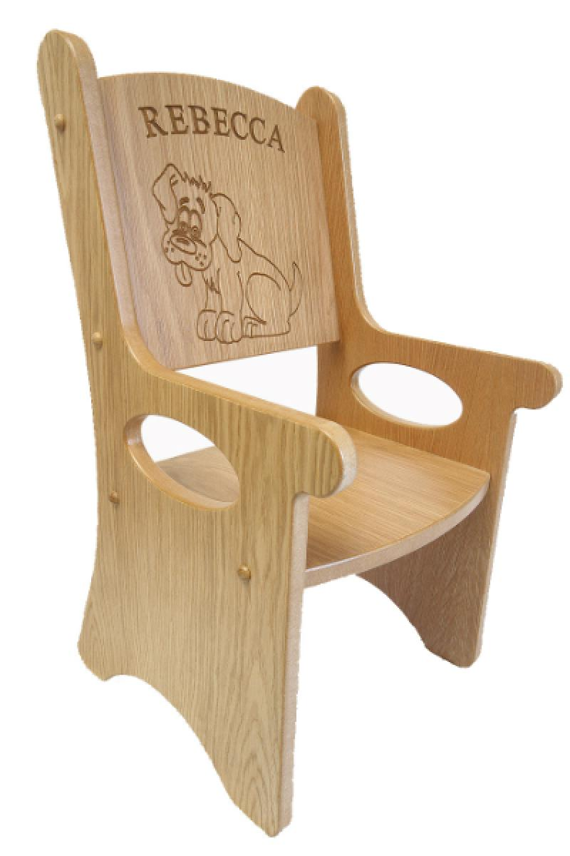 Childrens Personalised Chair.