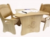 Children's Personalised Table and Chair set.