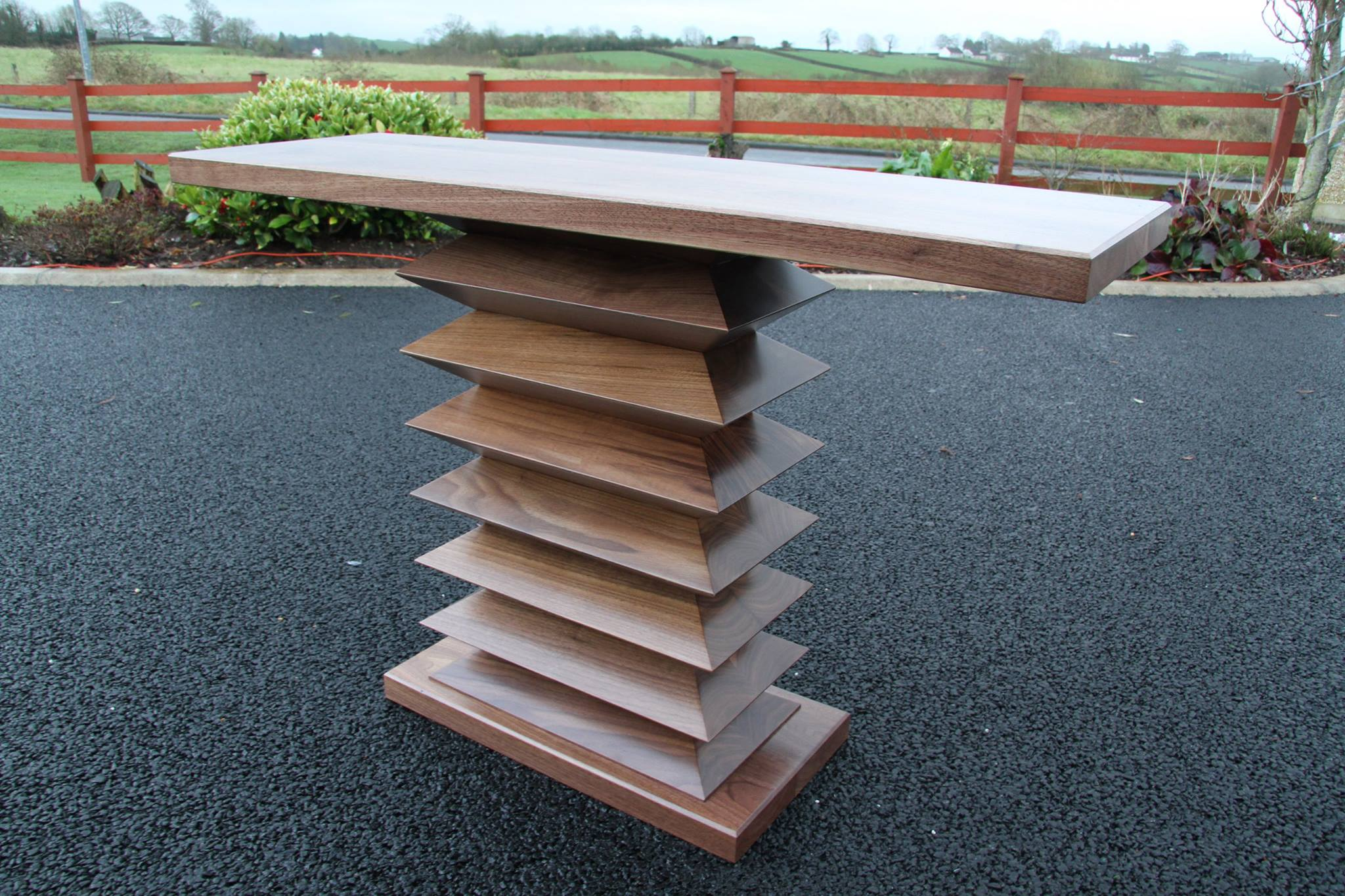 Specialist Solid Walnut Zigzag hall table