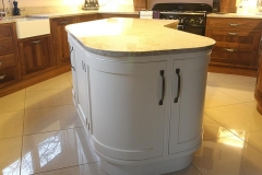 Curved Island unit with curved plinth