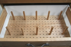 Oak Peg Board Draw