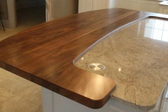 Solid walnut Island top 55mm thick