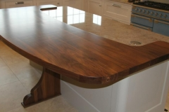 Solid walnut Island top
