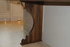 Solid walnut Island support leg