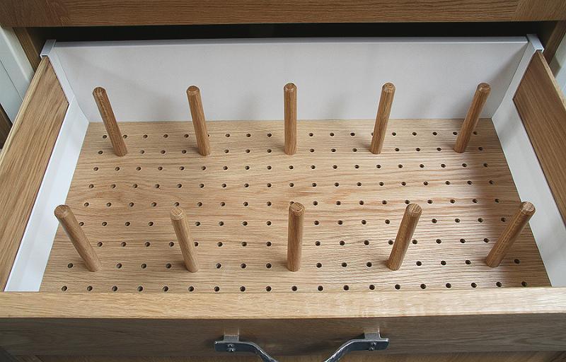 Oak Peg Board Draw